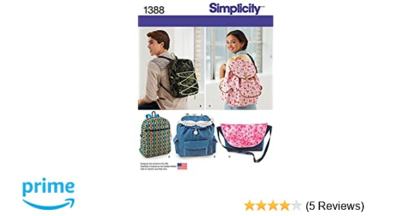 Simplicity Creative Patterns 1388 Backpacks and Messenger Bag