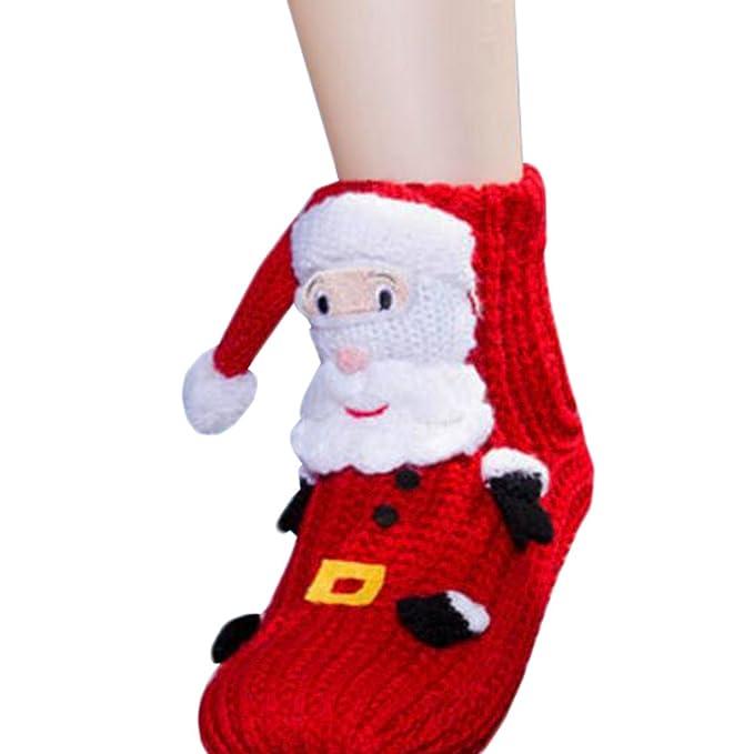 De dibujos animados Medias Calcetines antideslizantes deslizador Calcetines-Santa Claus Navidad: Amazon.es: Ropa y accesorios