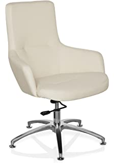 Hjh Office 600981 Lounge Sessel Bareno Echt Leder Orange
