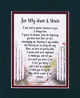 a touching poem gift present for an aunt uncle - Christmas Gifts For Aunts