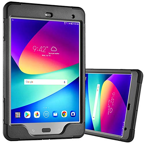Asus Zenpad Z8s Case With Built In Screen Protector P00J Rugged Heavy Duty Slim Design Black Verizon by SAGA