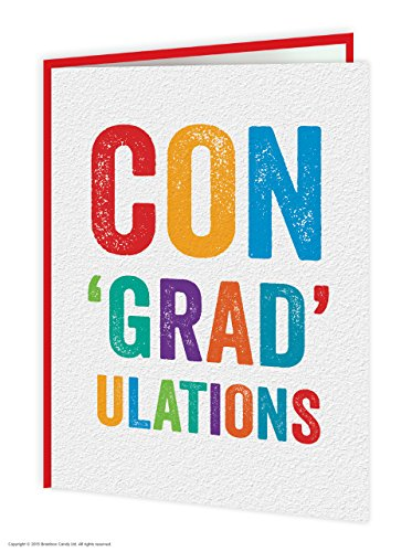 Funny Humorous 'Congradulations' Congratulations Card Brainbox Candy