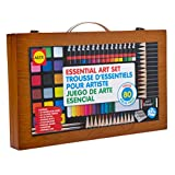 ALEX Toys - Artist Studio Portable Essential Art Supplies Set with Wood Carrying Case, 55E
