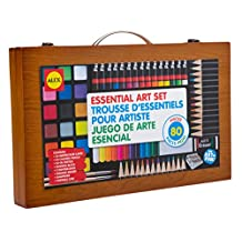 ALEX Toys - Artist Studio Portable Essential Art Supplies Set with Wood Carrying Case, 55E