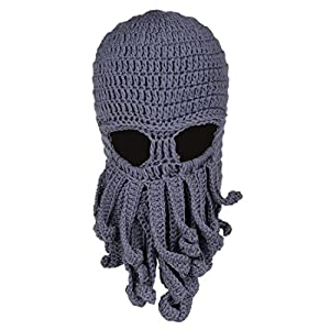 9dff6ab0a90d4 Beard Hat Beanie Hat Knit Skull Hat Winter Warm Octopus Hat Cable ...
