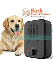 Anti Barking Device,Newly Outdoor Sonic Dog Bark Deterrent with 3 Adjustable Modes - No Barking, Waterproof, Up to 50 Feet Range, Safe for Small/Medium/Large Dogs