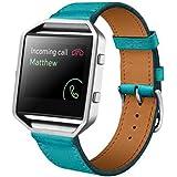Watch Bands Quick Release Bandas de Reloj, Leather Watch Band Strap for Fitbit Blaze Smart