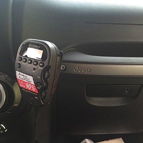 Overloaded Jeep Wrangler 75WXST CB Mount for Passenger Grab Bar JK Models 2011 to Present