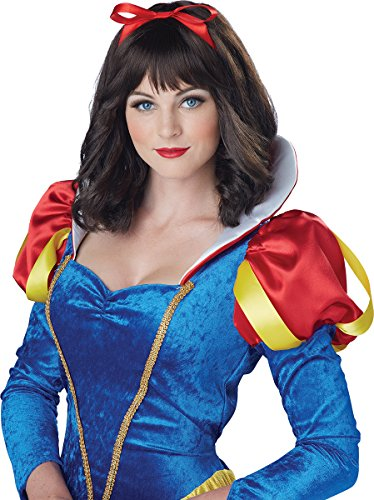 California Costumes Women's Snow White Wig, Dark Brown One -