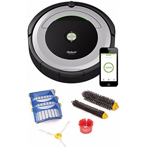 iRobot Roomba 690 Wi-Fi Connected Robotic Vacuum w/ 600 Series Replenishment Kit