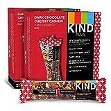 KIND Bars, Dark Chocolate Cherry Cashew + Antioxidants, Gluten Free, 1.4 Ounce Bars, 24 Count (Packaging May Vary)