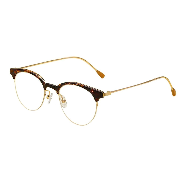 Hzjundasi Vintage Nerd Gafas Semi-sin montura Metal Marco Anti luz ...