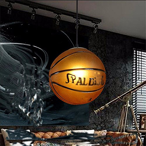 JhyQzyzqj Pendant Lights Chandeliers Ceiling Lights Scandinavian Retro Creative Personality Fashion Theme Restaurant Bar American Style Art Deco Basketball 320MM