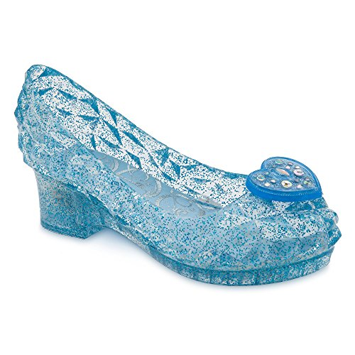 Disney Cinderella Light-Up Costume Shoes for Kids Size 13/1 YTH Blue ()