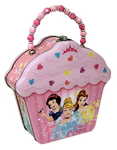 (The Tin Box Company Disney Princess Cupcake Shape Tin Purse)
