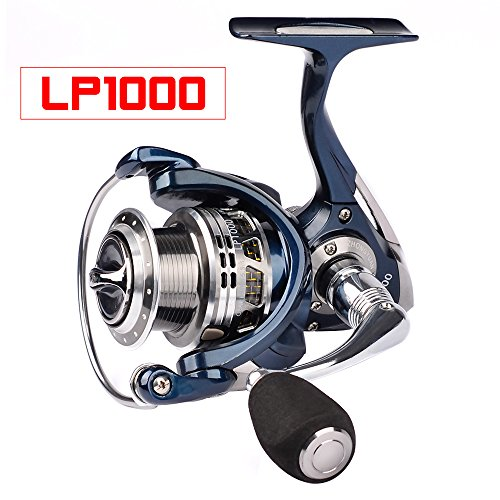 Proberos Spinning Reels Fishing Reel 20KG Max Drag Sea Boat 1000-6000 Aluminum alloy Reel 14BB Stainless Steel Bearing Anti-Seawater (LP, 1000)