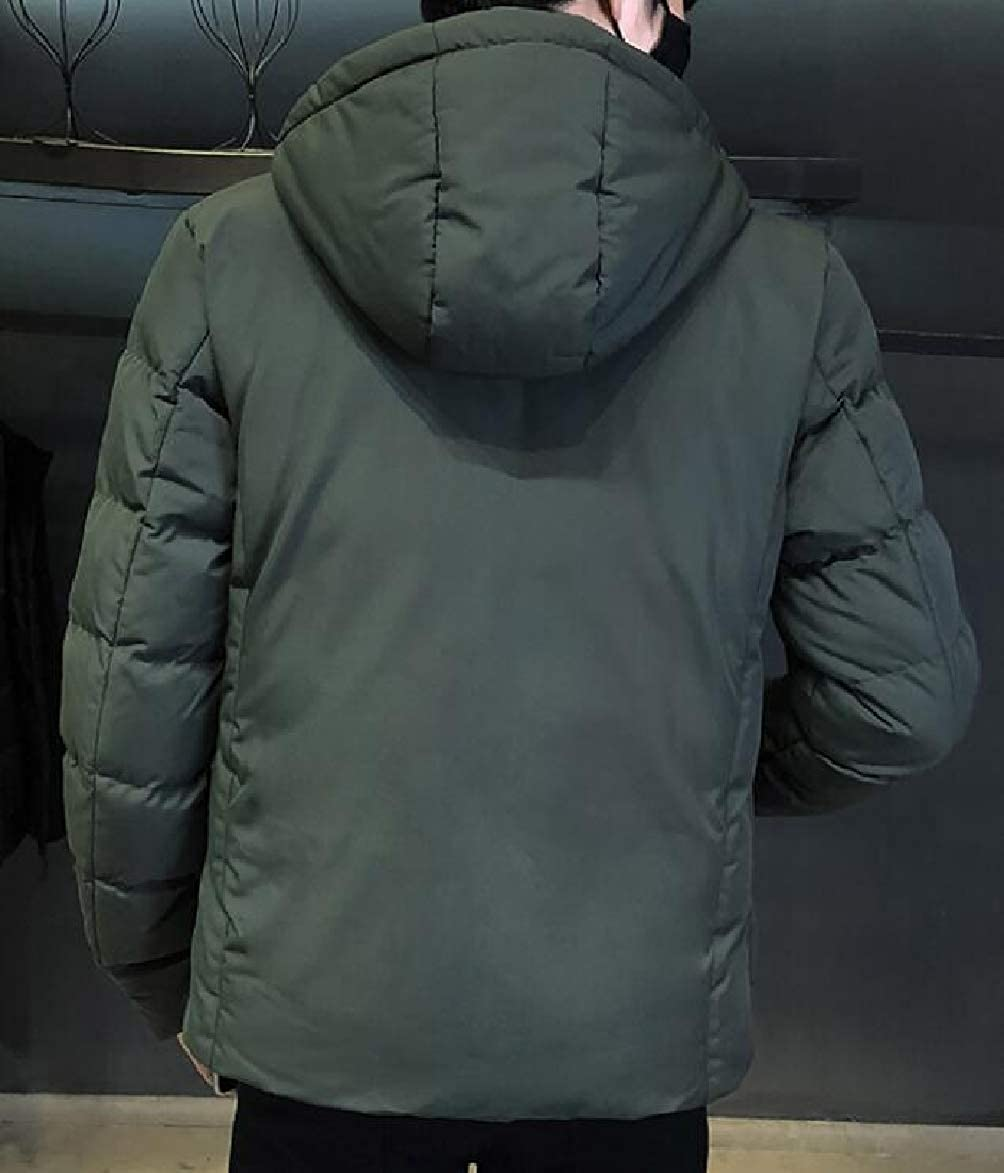 RRINSINS Men Plus Size Hoodie Warm Thicken Winter Quilted Jacket Coat Outerwear