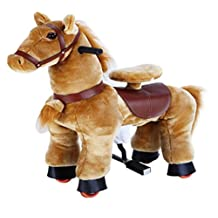 Light Brown Pony Cycle Rocking Horse Ride On Horse
