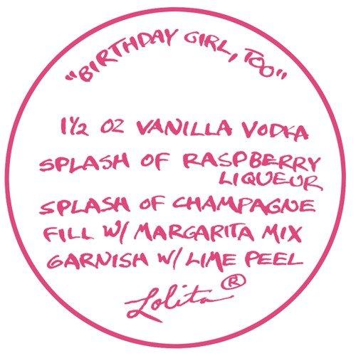 Lolita Love My Margarita Glass, Birthday Girl, Too