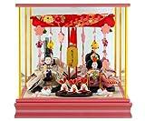 河西 雛人形 ひな人形 ケース 入り 親王飾り ピンク h253-mi-ks-h312pp