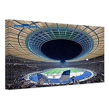 Leinwandbild Hertha Bsc Stadion Bei Nacht Fussball Berlin