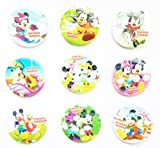 Mickey Mouse and Friends Buttons Badges 9 Pcs Set #1