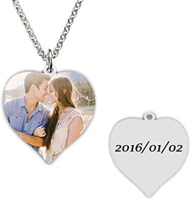 Personalized Necklace Custom Photo Necklace Heart Necklace Of Titanium Steel pendant Christmas Birthday Gift