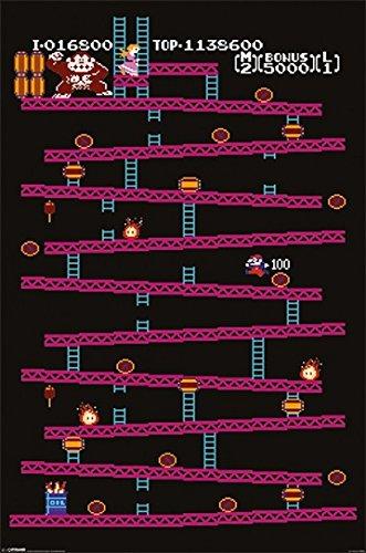 Donkey Kong - Retro Nintendo Gaming Poster Classic Donkey Kong / Nes