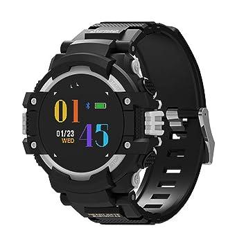 WULIFANG Reloj Inteligente GPS Deporte Hombres Y Mujeres Reloj Digital Compass Cardíaca Fitness Tracker Impermeable Ip67 Reloj De Pulsera Bluetooth Plata: ...