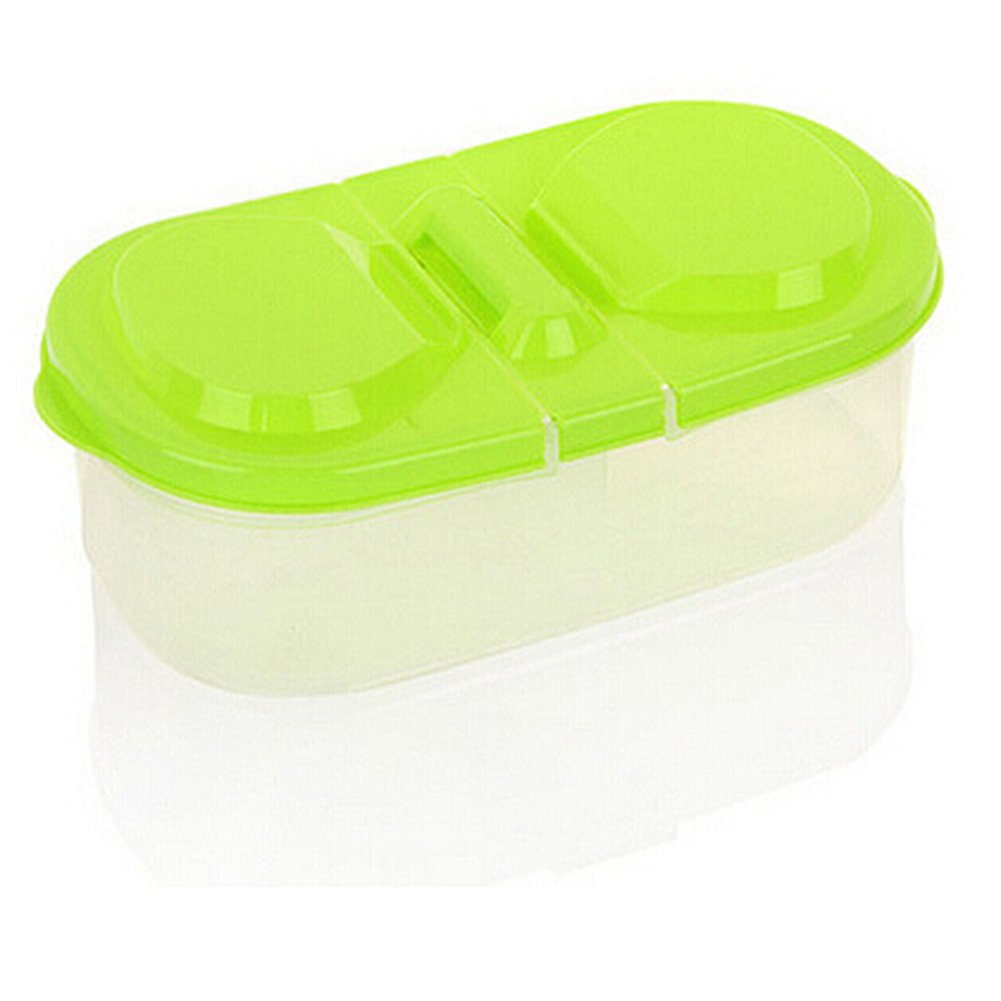 Colorido Fresh Cereal Bean Food Snacks Sauce Plastic Storage Box Kitchen Container Case size Medium (Green)