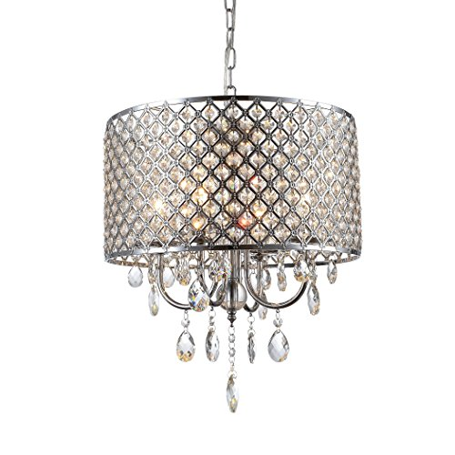 Drum Pendant Light With Crystal in Florida - 1