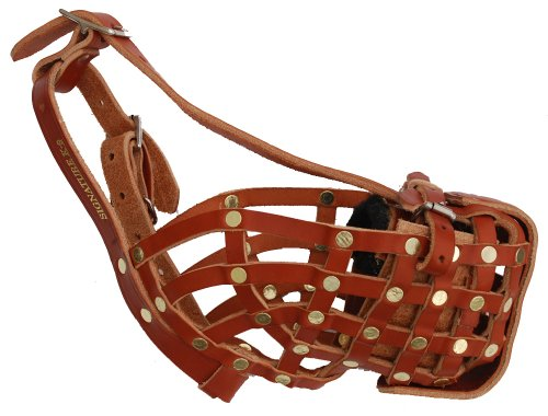 Signature K9 German Style Basket Muzzle, Large, Tan by Signature k-9