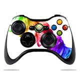 #4: MightySkins Skin For Microsoft Xbox 360 Controller - Rainbow Smoke | Protective, Durable, and Unique Vinyl Decal wrap cover | Easy To Apply, Remove, and Change Styles | Made in the USA