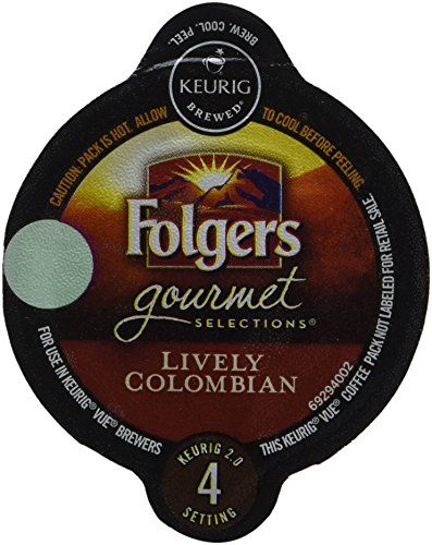 32 Count - Folgers Gourmet Selections Lively Colombian Coffee Vue Cup For Keurig Vue Brewers (Coffee Vue Keurig compare prices)