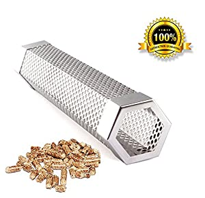 "Pellet Smoker Tube Smoker Pipe 12"" Stainless Steel BBQ Pellets Grill for Cold & Hot Smoking from famous Smopet"