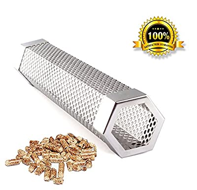 "Pellet Smoker Tube Smoker Pipe 12"" Stainless Steel BBQ Pellets Grill for Cold & Hot Smoking by famous Smopet"