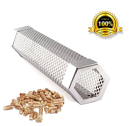 Smoker Tube Smoker Pipe Pellets Grill for Cold & Hot Smoking Stainless Steel BBQ