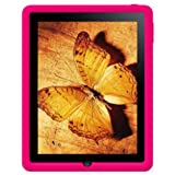 Amzer AMZ22270 Silicone Skin Jelly Case for Apple iPad Tablet (Hot Pink)