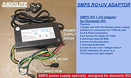 Savolite SMPS RO & UV Power supply (Black): Amazon.in: Home & Kitchen