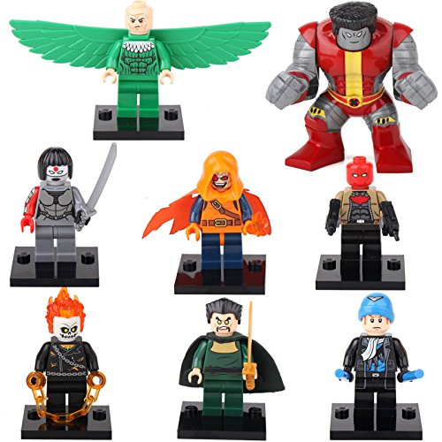 [gonggamtop Colossus Hobgoblin Katana Ghost Rider Red Hood 8 Minifigures Building Brick] (Diy Star Wars Dog Costumes)