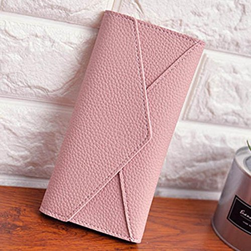 JD Million shop Women Wallet Daily Use Clutches Solid PU Leather Good Quality Clutch Purse Fashion Bag - Christian Dior Bag Pink