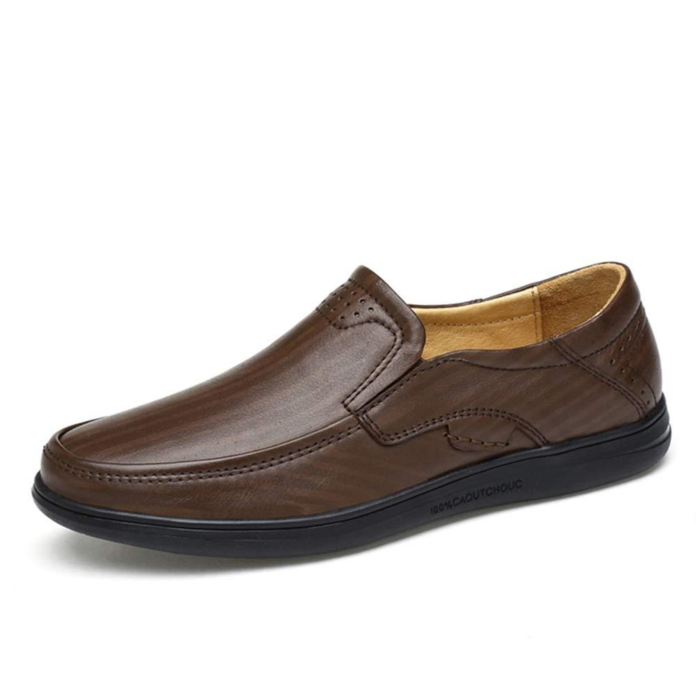 Darkbspringaaa Easy Go Shopping Oxfords skor for män män män Driving Loafer Slip On OX springad Toe Andable skor (Hollow Vamp is valfri) Cricket skor (Färg  ljus bspringaaa Hollow, Storlek  10.5 UK)  val med lågt pris