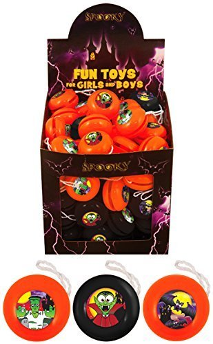 12 x Mini Return Top Yo Yo Halloween Henbrandt