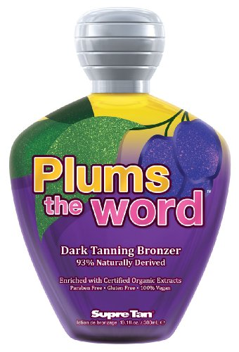 Supre PLUMS THE WORD Dark Bronzer Tanning Lotion 10.1 oz. Naturally Dark Tanning Lotion