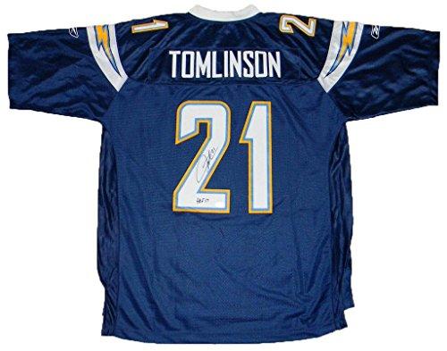 LaDainian Tomlinson Signed Jersey - #21 Reebok Premier + Hof 17 - Autographed NFL Jerseys ()