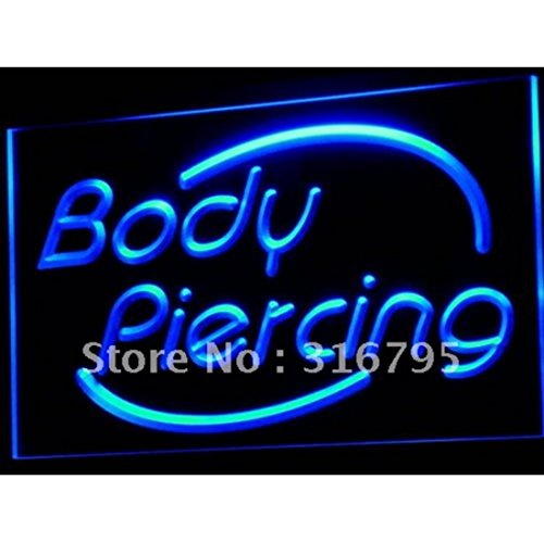 11.8inch x 7.8inch Body Piercing Tattoo Shop Display LED Neon Light Sign for your Store Neon Sign Corded-Electric - Yellow (Neon Yellow Body)