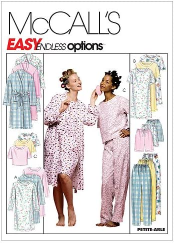McCall/'s 2476 Misses Robe Nightgown Pajamas-Top Shorts Pants Sew Pattern XL-XXL
