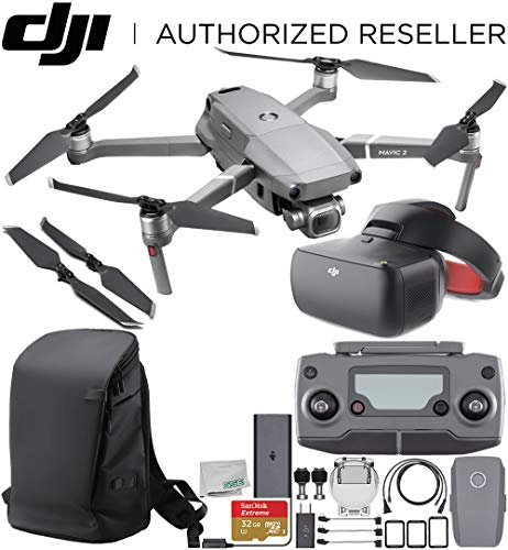 """DJI Mavic 2 Pro Drone Quadcopter with Hasselblad Camera 1"""" CMOS Sensor with DJI Goggles Racing Edition & DJI Carry More Backpack Starter Bundle"""