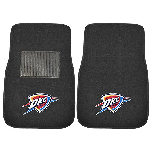 Nba Mats (FANMATS 17612 NBA Oklahoma City Thunder 2-Piece Embroidered Car Mat)