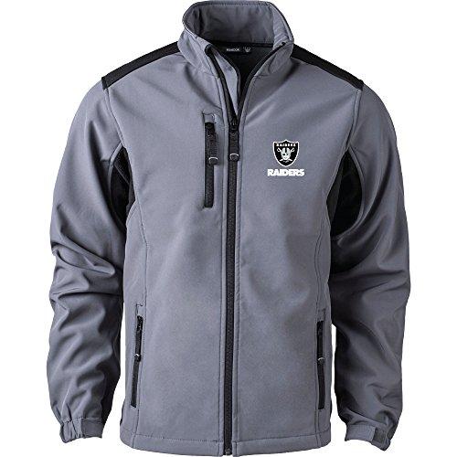 Polar Raiders Oakland Fleece (Dunbrooke Apparel NFL Oakland Raiders Men's Softshell Jacket, X-Large, Graphite)